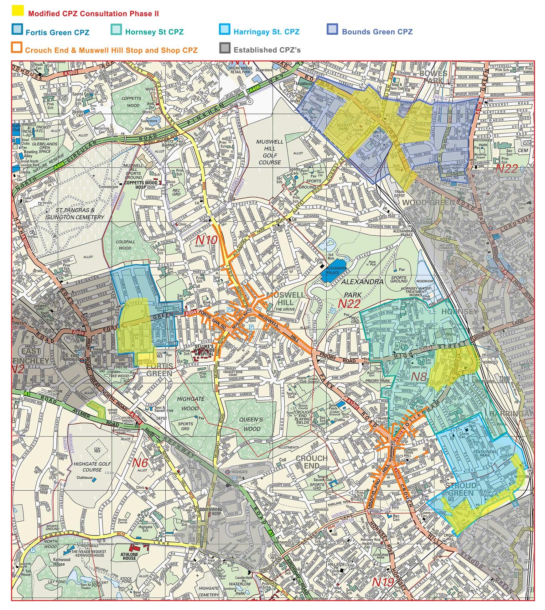 2006 CPZ Consultation pahse 2 all zones map
