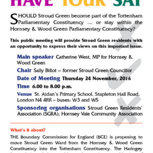 Boundary Changes Public Meeting