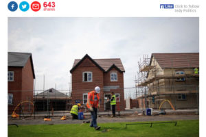 Independent | 18.2.2017 | Extended Right To Buy to Hit Affordable Housebuilding