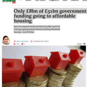 #HDV | 24 Housing | 3.3.17 | £8bn of £51bn goes to affordable housing